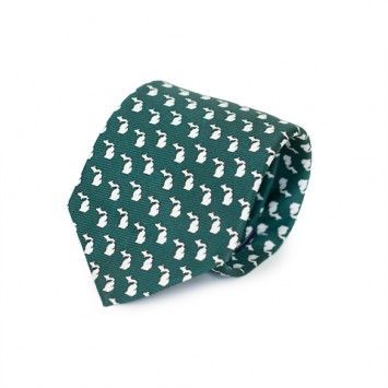 Green MI Gameday Tie